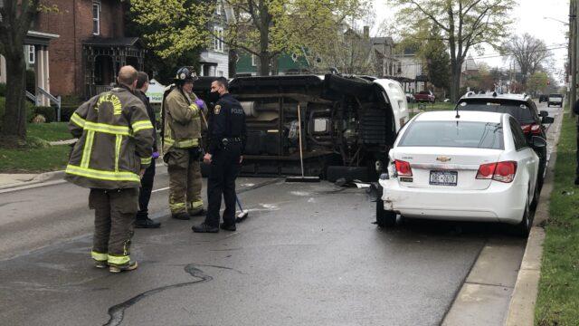 No Injuries In Jamestown Rollover Crash